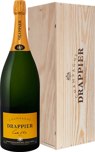 Drappier Carte d'Or Brut Champagne AOP in gift box, 3л